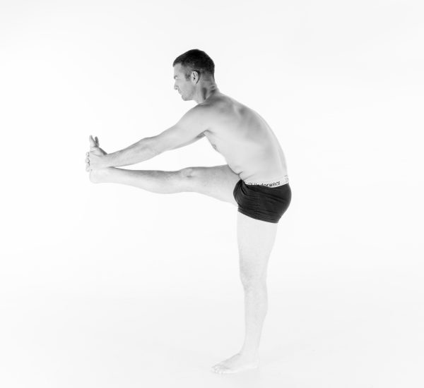 6. Standing Head to Knee Pose – Dandayamana Janushirasana (part 2)