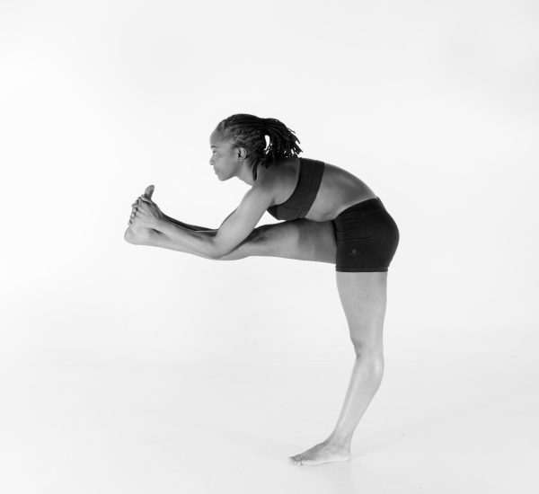 6. Standing Head to Knee Pose – Dandayamana Janushirasana (part 3)