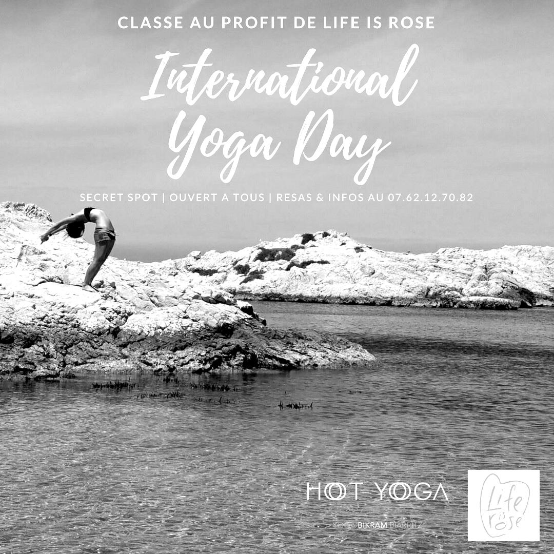 21 Juin 2018 : Journée Internationale du Yoga au profit de Life is Rose